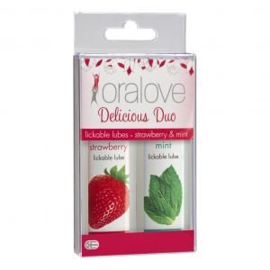 Oralove Dynamic Duo Lickable Lubes - Strawberry & Mint