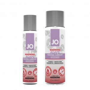 JO Agapé Warming Water-Based Personal Lubricant 1 and 2oz