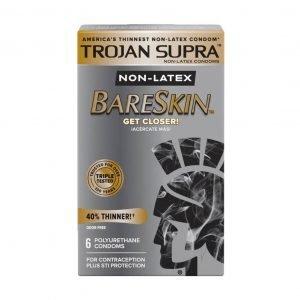 Trojan Supra Bareskin Non-Latex Lubricated Condoms 6 pack