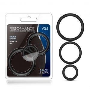Performance VS4 Silicone Penis Rings 3-Pack in Black