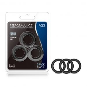 Black Performance VS2 Silicone Penis Rings 3-Pack Small