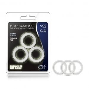 Performance VS2 Glow in the Dark Silicone Rings Small 3-pack