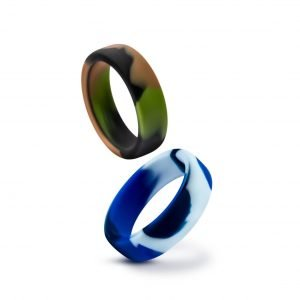 Performance - Silicone Camo Cock Ring - Blue or Green Camouflage