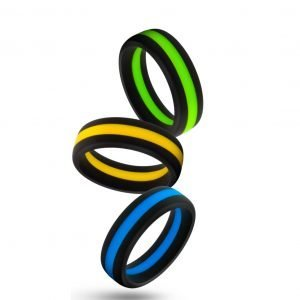 Performance - Silicone Go Pro Penis Ring - Blue, Gold or Green