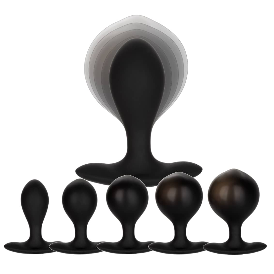 Weighted Silicone Inflatable Anal Plug by Calexotics