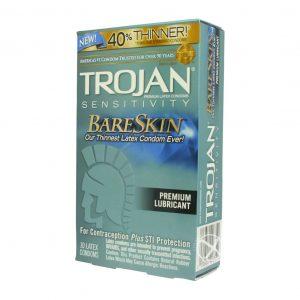 Trojan Sensitivity Bareskin Lubricated Condoms 10 Pack