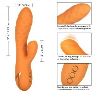 California Dreaming Newport Beach Babe Rechargeable Silicone Thumping Vibrator