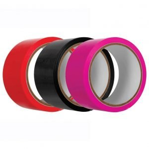 65 Feet Bondage Tape in Black, Red or Pink - by Evolved